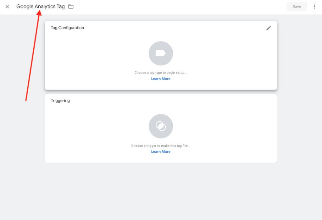 Namnge Google Tag Manager Tag