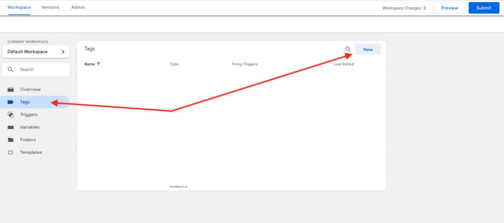 Skapa en Tag i Google Tag Manager